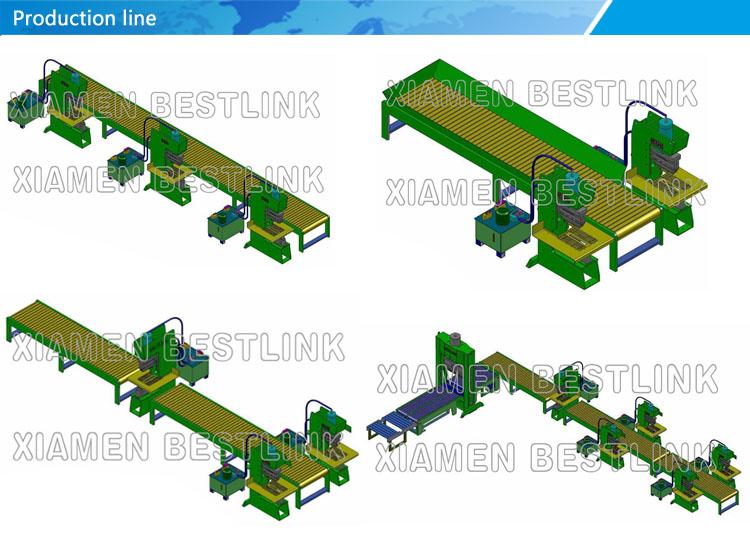Production line for stone splitting machine 2